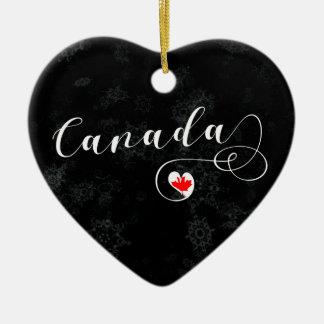 Kanada-Herz, Weihnachtsbaum-Verzierung, kanadisch Keramik Ornament