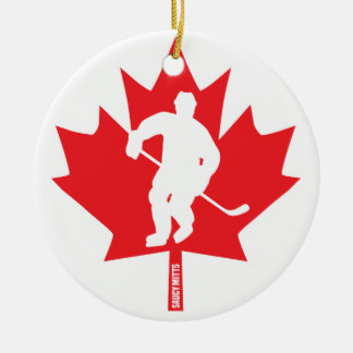 Kanada-Hockey-Ahornblatt-Spieler Keramik Ornament