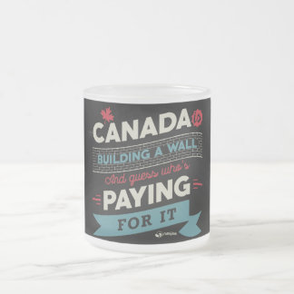 Kanada ist Gebäude ein Wand Matte Glastasse