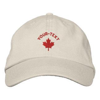 Kanada-Kappe - Rotahorn-Blatt-Hut Bestickte Caps