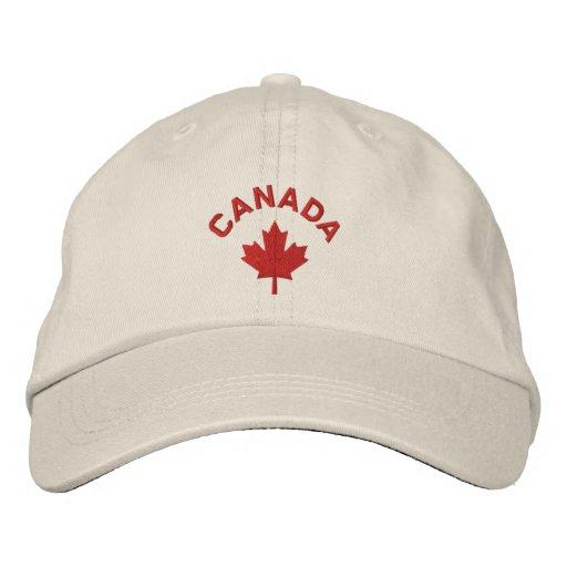 Kanada-Kappe - Rotahorn-Blatt-Hut Bestickte Mützen