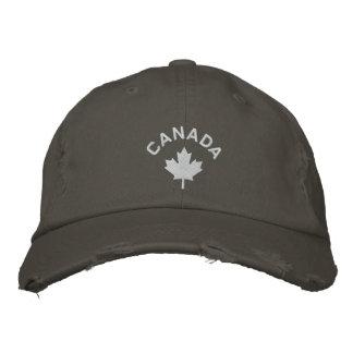 Kanada-Kappe - weißer Ahornblatt-Hut Bestickte Baseballkappe