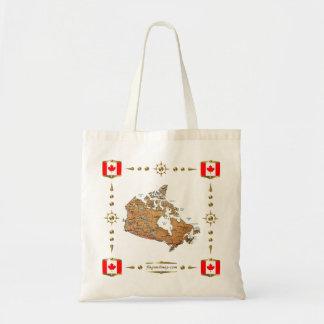 Kanada-Karte + Flaggen-Tasche Tragetasche