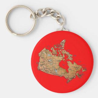Kanada-Karte Keychain Schlüsselanhänger