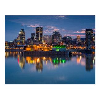 Kanada, Montreal, Skyline und alter Hafen Postkarte