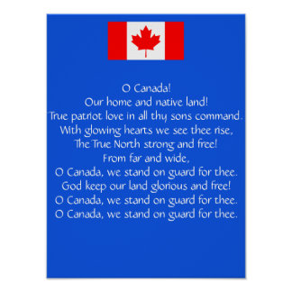 Kanada-Nationalhymne-Plakat Poster