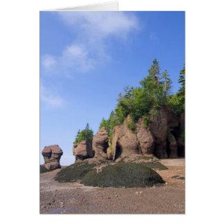 Kanada, New-Brunswick, Hopewell Kap, Bucht von Karte