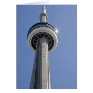 Kanada, Ontario, Toronto. Spitze von KN-Turm mit Karte