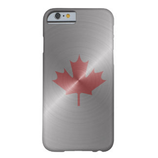 Kanada-Platin-Ahornblatt Barely There iPhone 6 Hülle