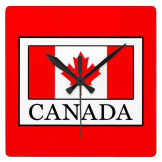 Kanada Quadratische Wanduhr