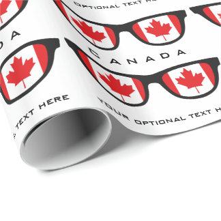 Kanada schattiert kundenspezifischen Text u. Geschenkpapierrolle
