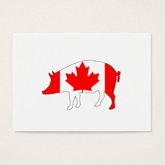 Kanada-Schwein Visitenkarte