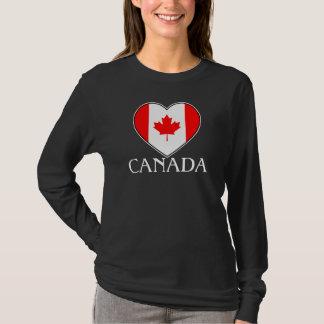 Kanada-Shirt für Mädchen mit Herzen T-Shirt