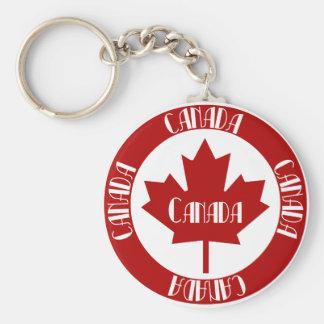 Kanada Standard Runder Schlüsselanhänger