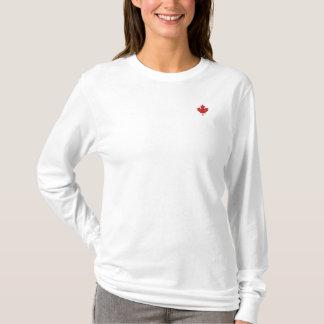 Kanada-T-Shirt - roter Ahorn-Kanada-Shirt Besticktes Langarmshirt
