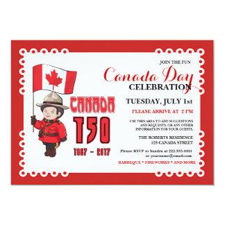 Kanada-Tag150 GRILLEN Feier-Einladung 12,7 X 17,8 Cm Einladungskarte