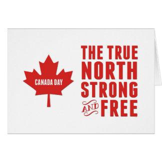 Kanada-Tag, das rechtweisend Nord stark und frei Grußkarte