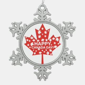 Kanada-Tagesfeier Schneeflocken Zinn-Ornament