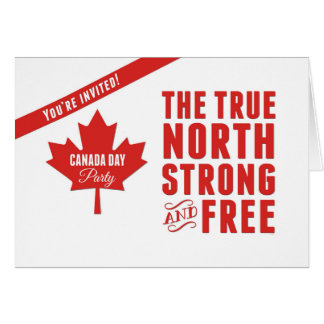Kanada-TagesParty Einladung, wahrer Norden Grußkarte