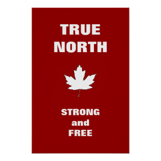 Kanada-Tagesweißes Ahornblatt-Hymnen-Plakat