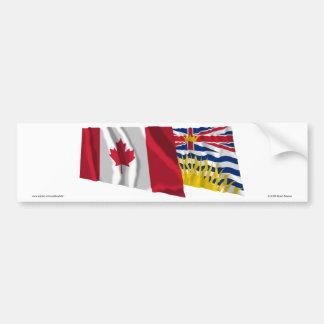 Kanada u. Britisch-Columbia, die Flaggen Autoaufkleber