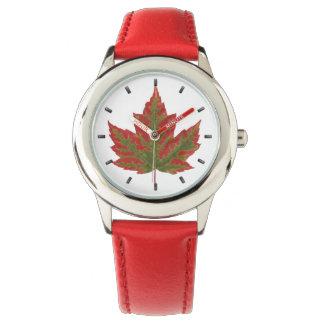 Kanada-Uhr-Kanada-Ahornblatt-Armbanduhr-Andenken Armbanduhr