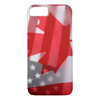 Kanada- und Amerika-Flaggen iPhone 8/7 Hülle