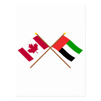 Kanada und Arabische Emirate gekreuzte Flaggen Postkarte