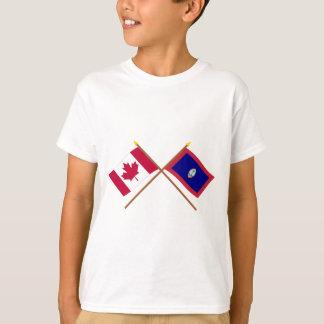 Kanada und Guam gekreuzte Flaggen T-Shirt