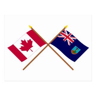 Kanada und Montserrat gekreuzte Flaggen Postkarte