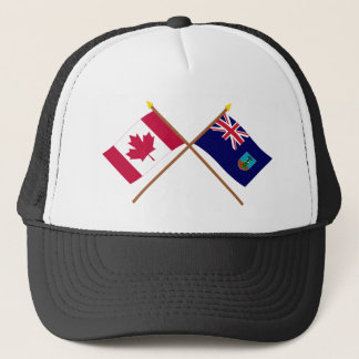 Kanada und Montserrat gekreuzte Flaggen Truckerkappe