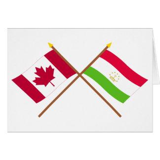 Kanada und Tadschikistan gekreuzte Flaggen Karte