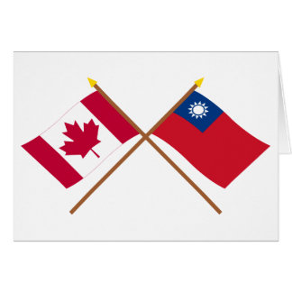 Kanada und Taiwan gekreuzte Flaggen Karte