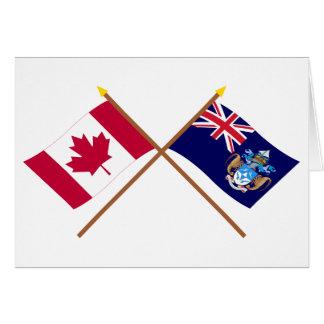 Kanada und Tristan DA Cunha gekreuzte Flaggen Karte