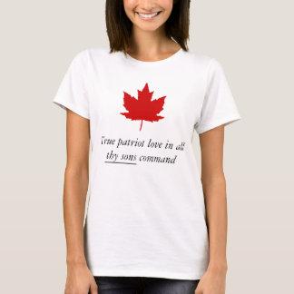 Kanada - wahre Patriot-Liebe in Thy ganzem T-Shirt