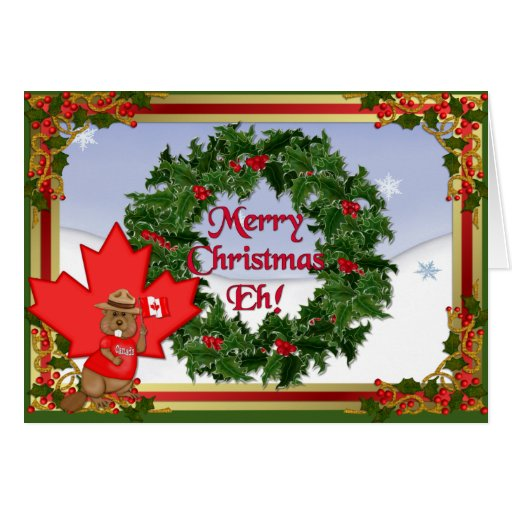 kanada weihnachten vers karten zazzle