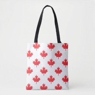 Kanada-Weiß mit Rotahorn-Blatt Tasche