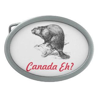 Kanada wie? Leuchtturm-Weg Ovale Gürtelschnallen