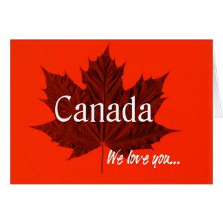 Kanada wir Liebe Sie… Karte