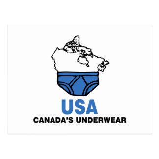 Kanadas Unterwäsche Postkarte