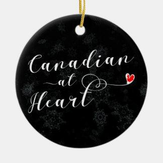 Kanadier am Herzen, Weihnachtsbaum-Verzierung Keramik Ornament