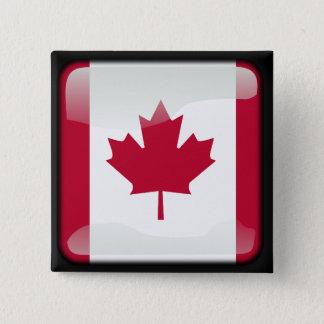 Kanadier poliert quadratischer button 5,1 cm