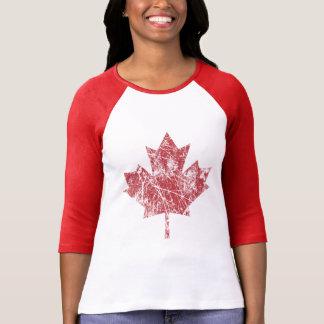 Kanadische Ahornblatt-Schmutz-Art KANADA T-Shirts