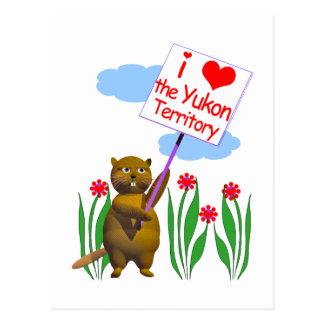 Kanadische Biber-Lieben das Yukon Postkarte