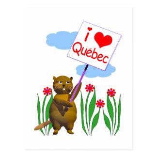 Kanadische Biber-Lieben Quebec Postkarte