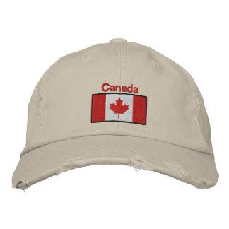 Kanadische Flagge gestickter Hut Bestickte Baseballmützen