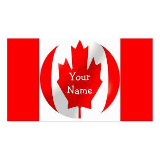 Kanadische Flagge mit Blasen-Visitenkarte Visitenkarten