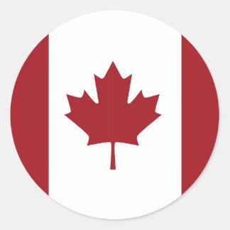 Kanadische Flagge Runder Aufkleber