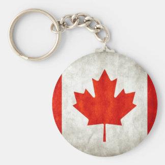 Kanadische Flagge Standard Runder Schlüsselanhänger