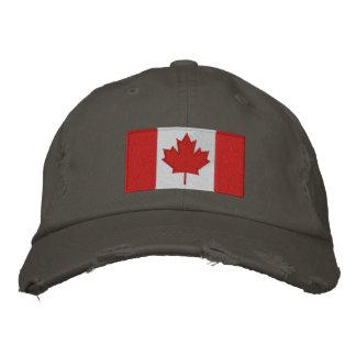Kanadische Flaggen-Baseballmütze Bestickte Kappe
